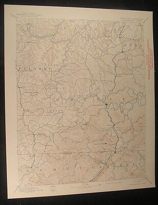 Williamsburg Kentucky Boston Corbin 1941 vintage USGS original Topo chart map