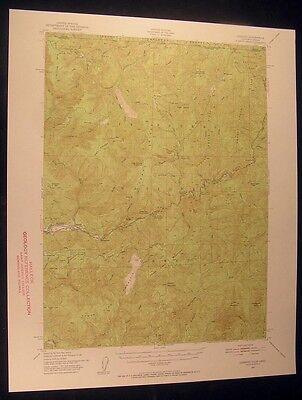 Gasquet California Washington Peak 1953 vintage USGS original Topo chart map