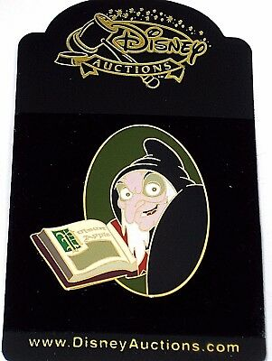 RARE LE Disney Auctions Pin✿Villain Evil Old Hag Snow White Spell Book Queen NEW