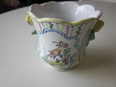 Sceaux 18th Century Faience Wine Glass Cooler