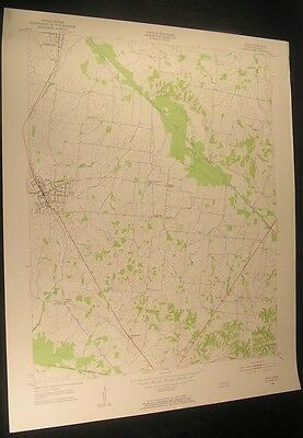 Dyer Tennessee Georgetown Laneview 1955 vintage USGS original Topo chart map