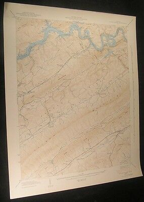 Dutch Valley Tenn. Poor Valley Knobs 1942 vintage USGS original Topo chart map