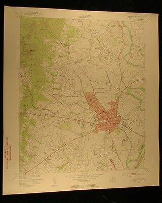 Frederick Maryland 1953 vintage USGS Topographical chart