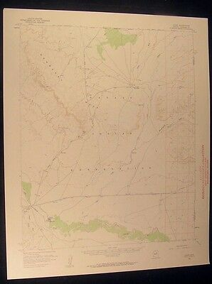 Leupp Arizona Tolani Lake Day School 1959 vintage USGS original Topo chart map