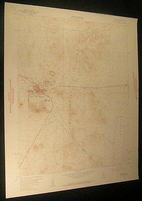 Tonopah Nevada Golden Mtn Mt Butler 1961 vintage USGS original Topo chart map