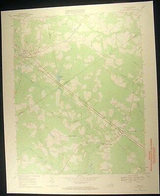 Ivor Virginia Wakefield Southampton Co 1970 vintage USGS original Topo chart map
