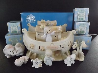"Precious Moments ""the Noah's Ark Story"" -  8Pc Set - #530948 - New In Box"