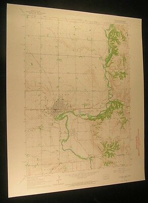 Canton South Dakota Big Sioux River 1964 vintage USGS original Topo chart map