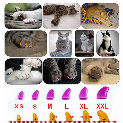 New Soft Rubber Pet Dog Cat Puppy Paw Claw Control Nail Caps Cover Color 100Pcs