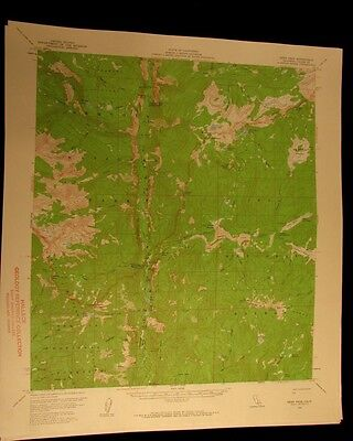 Kern Peak California 1961 vintage USGS Topographical chart map