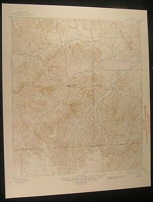 Sherwood Texas Twin Buttes Lopez Peaks 1945 vintage USGS original Topo chart map