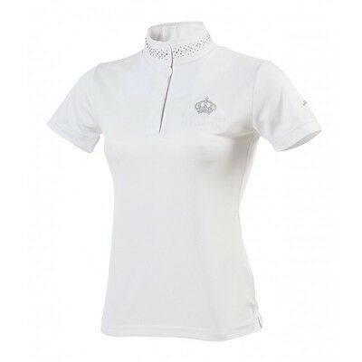 Equi-Theme Couronne Childs Show Shirt Competition Polo Shirt White 98701111