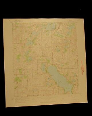 Gull Lake Richland Ross Delton Michigan vintage 1973 USGS Topographical chart