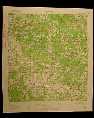 Arcadia Louisiana 1960 vintage USGS Topo color chart map