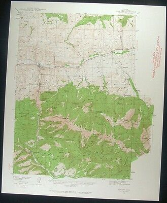 John Day Oregon Canyon City Grant Co. 1960 vintage USGS original Topo chart map