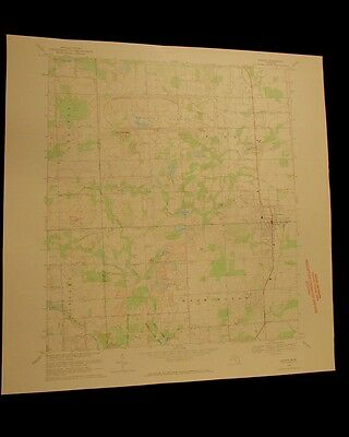 Romeo Michigan vintage 1970 original USGS Topographical chart