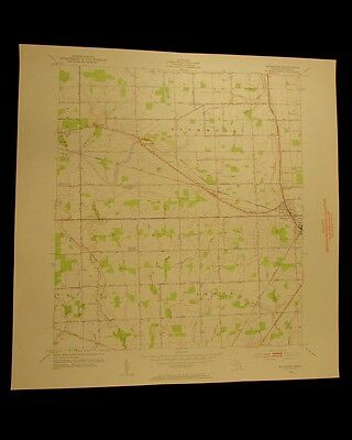 Richmond Michigan vintage 1954 original USGS Topographical chart