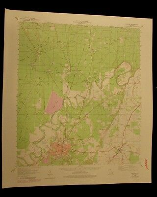 Bastrop Louisiana 1979 vintage USGS Topo color chart map