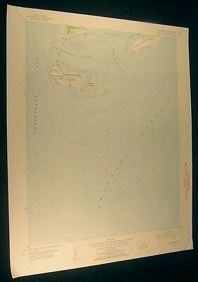 Cape Charles Virginia The Isaacs 1956 vintage USGS original Topo chart map