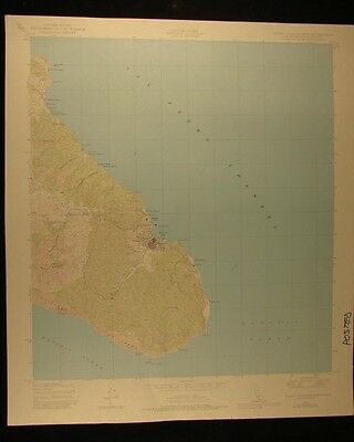 California Santa Catalina East vintage 1980 original USGS Topographical chart