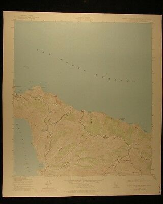 California Santa Catalina North vintage 1980 original USGS Topographical chart