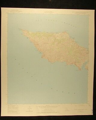 California Santa Catalina West vintage 1980 original USGS Topographical chart
