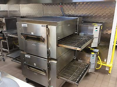 LINCOLN 1450 Dbl Stack Gas Pizza Ovens