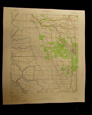 Lodi California vintage 1959 original USGS Topographical chart