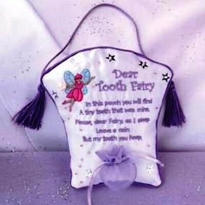 Lillian Rose Tooth Fairy Embroidered Pillow - Rare item!