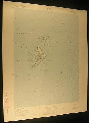 Isles of Shoals Maine Smuttynose Is. 1957 vintage USGS original Topo chart map