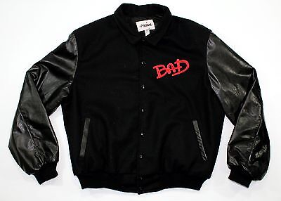 Vintage Michael Jackson Bad World Tour 1987 Crew Jacket Original Wool Leather