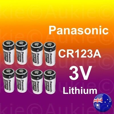 8 x Panasonic 3V CR123A CR17345 Non Rechargeable Battery Netgear Arlo Camera