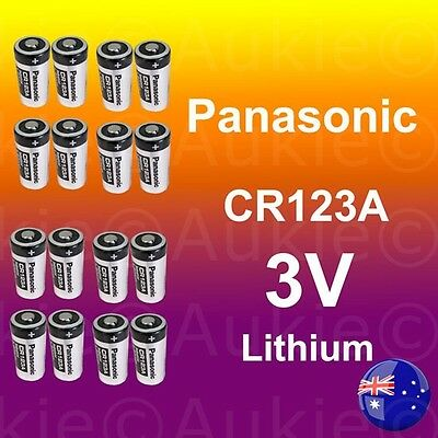 16x Panasonic 3V CR123A CR17345 CR123 Non Rechargeable Lithium Battery Batteries