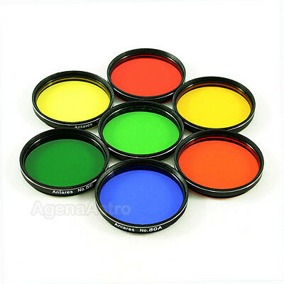 "Antares 2"" Color Filter Set for Telescope Eyepiece - Set of 7 Filters"