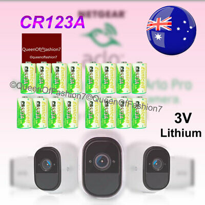 16 x Eunicell 3V CR123A CR17345 Non Rechargeable Battery Netgear Arlo Camera