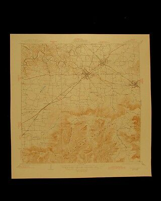 Decherd Tennessee vintage 1945 original USGS Topographical chart