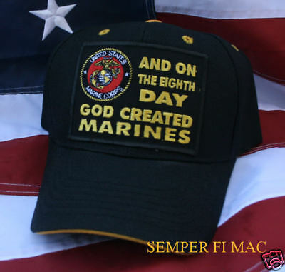 On The Eight 8Th Day God Created Us Marines Seal Logo Hat Wowmh Uss Fmf Vet Wow