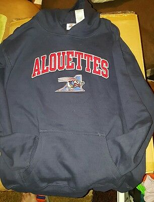 WOW!! Beautiful Montreal Alouettes Hoodie! New With Tags! Youth Size XL 16/18
