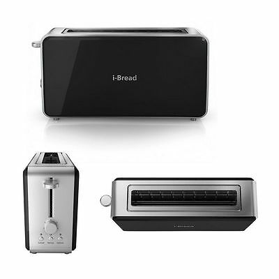 -Bread Long Slot 2 Slice Toaster Browning Control Reheat Defrost Cancel Button