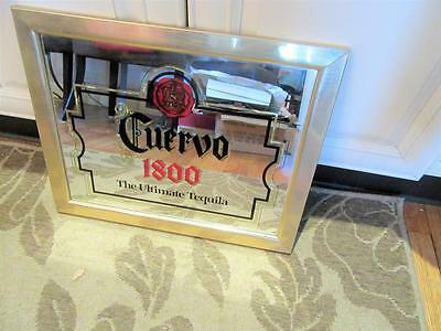 "Vintage 1980s Jose Cuervo Tequila Mirrored Framed Bar Sign 19.5"" x 15.5"""