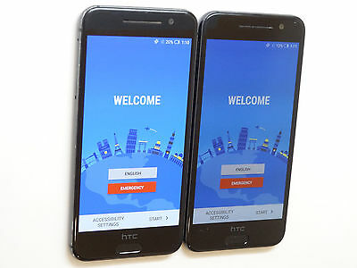 Lot of 2 HTC One A9 2PQ93 Sprint Smartphones Power On Good Charger Port AS-IS *