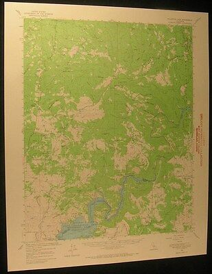 Millerton Lake California Quartz Mtn 1967 vintage USGS original Topo chart map