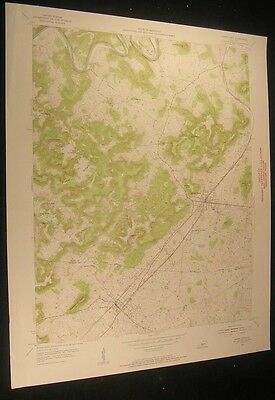 Horse Cave Kentucky Waterloo Valley 1955 vintage USGS original Topo chart map