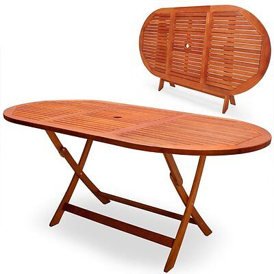 Outdoor Wooden Dining Table Folding Wood Garden Picnic Patio Home Furniture