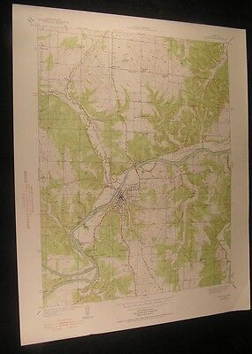Osceola Missouri Happy Hours Camp 1939 vintage USGS original Topo chart map