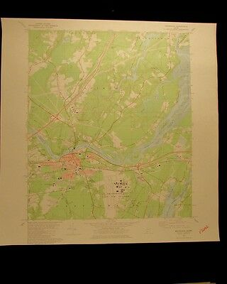 Brunswick Maine vintage 1980 original USGS Topographical chart