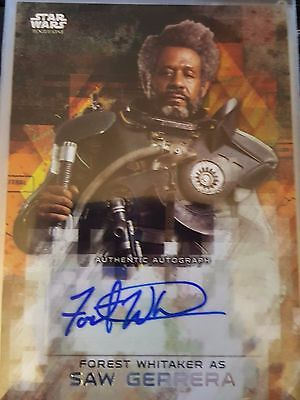 Star Wars Rogue One Series 2 Forest Whitaker as Saw Gerrera Auto Autograph 25/50