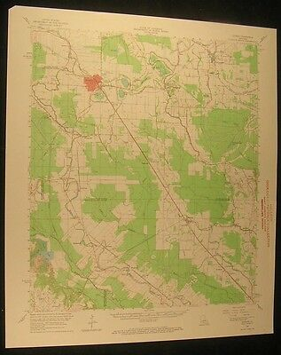 Bunkie Louisiana Morrow Indian Lake 1967 vintage USGS original Topo chart map
