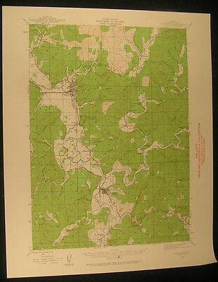Coquille Oregon Myrtle Point Norway 1960 vintage USGS original Topo chart map
