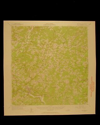 Brookneal Virginia vintage 1957 original USGS Topographical chart